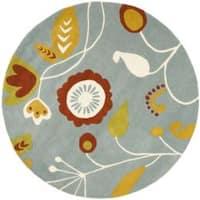 Safavieh Handmade New Zealand Wool Mirage Brown Rug (6' Round) - 6'