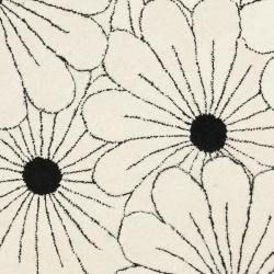 Safavieh Handmade New Zealand Wool Daisies Ivory Rug (6' Round) - Thumbnail 2