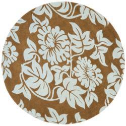 Safavieh Handmade New Zealand Wool Bliss Light Brown Rug (6' Round)