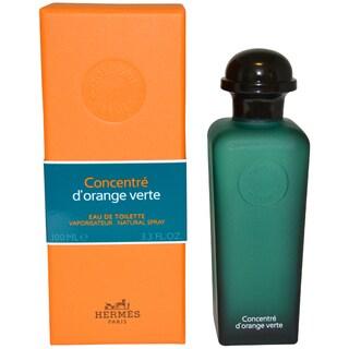 Hermes D'Orange Concentre Verte Men's 3.3-ounce Eau de Toilette Spray