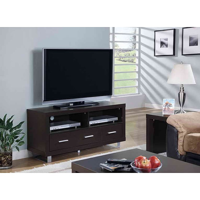 Cappuccino 3-drawer 48-inch TV Console - 13865245 - Overstock.com