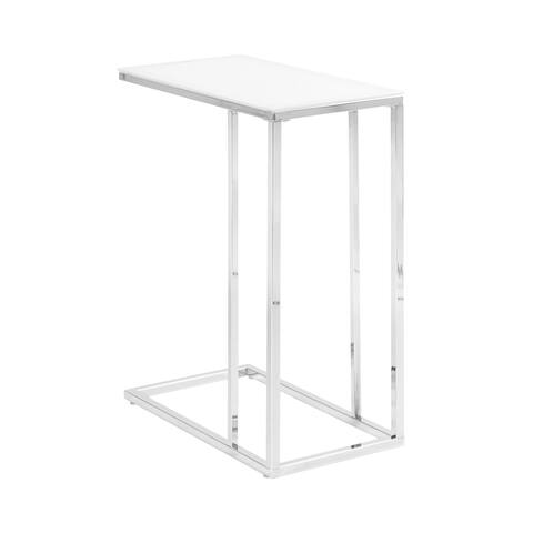 """Transitional Chrome Snack Table - 10"""" x 18"""" x 24"""""""