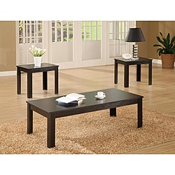 Black 3-piece Occasional Table Set - Thumbnail 0