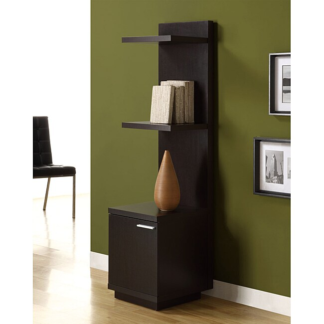 Cappuccino Hollow Core Audio and Display Tower