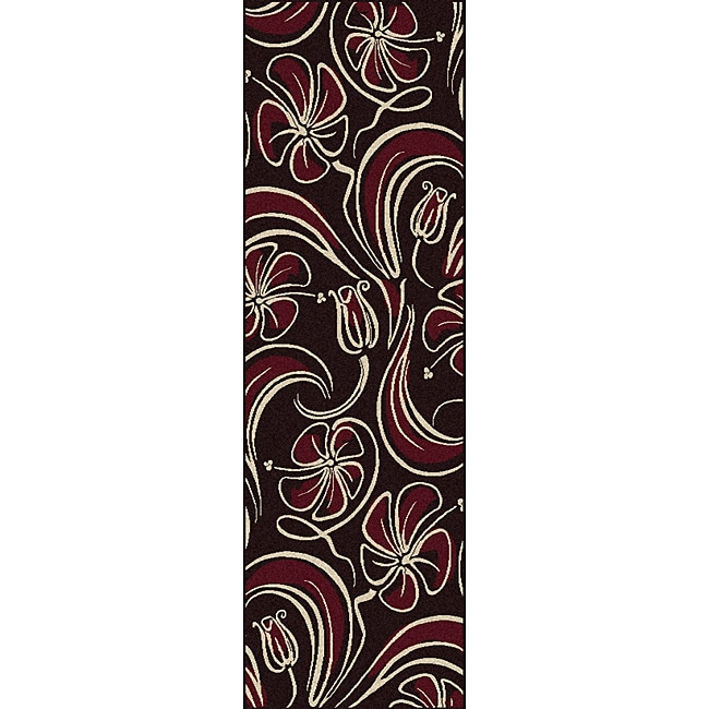 Admire Home Living Brilliance Bloom Contemporary Area Rug (2'2 x 7'7)