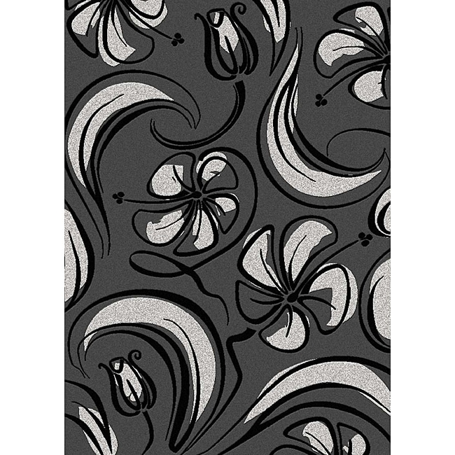 Admire Home Living Brilliance Bloom Contemporary Area Rug (3'3 x 4'11)