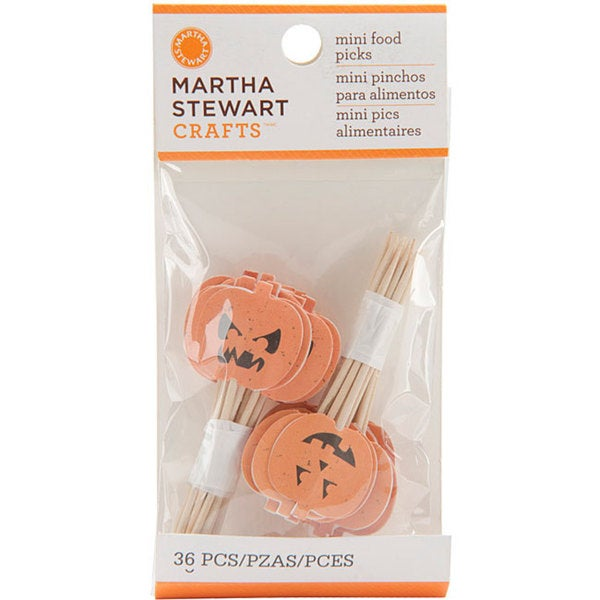 Martha Stewart 'Classic Halloween' Mini Food Picks (Pack of 36)