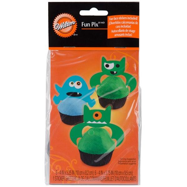 Wilton Ghoulish Gourmet Cupcake Accents (Pack of 12)