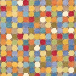 Safavieh Handmade Soho Modern Abstract Brown/ Multi Wool Rug (5' x 8') - Thumbnail 2
