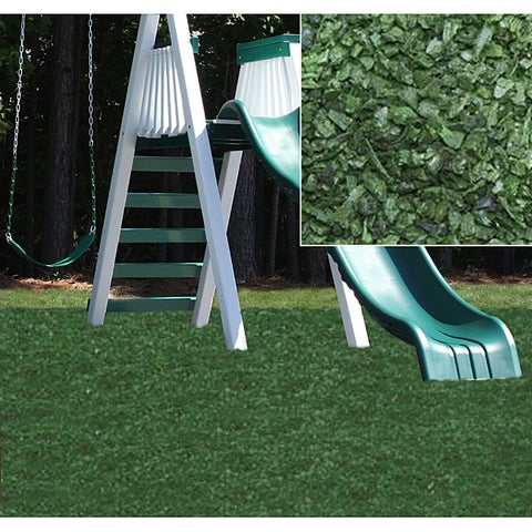 Kidwise Green Rubber Playground Mulch