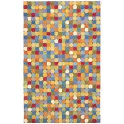 Safavieh Handmade Soho Modern Abstract Brown/ Multi Wool Rug (3' 6 x 5' 6)