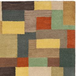 Safavieh Handmade Soho Modern Abstract Multicolored Wool Rug (3' 6 x 5' 6) - Thumbnail 1