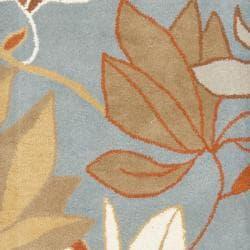 Safavieh Handmade Soho Lakeside Blue New Zealand Wool Rug (2'6 x 8') - Thumbnail 2