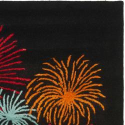 Safavieh Handmade New Zealand Wool Jubilee Black Rug (7'6 x 9'6) - Thumbnail 1