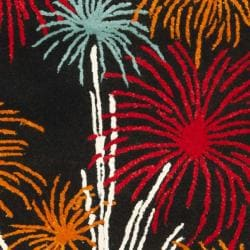 Safavieh Handmade New Zealand Wool Jubilee Black Rug (7'6 x 9'6) - Thumbnail 2