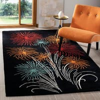 "Safavieh Handmade New Zealand Wool Jubilee Black Rug - 7'6"" x 9'6"""