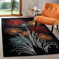 Safavieh Handmade New Zealand Wool Jubilee Black Rug - 7'6 x 9'6