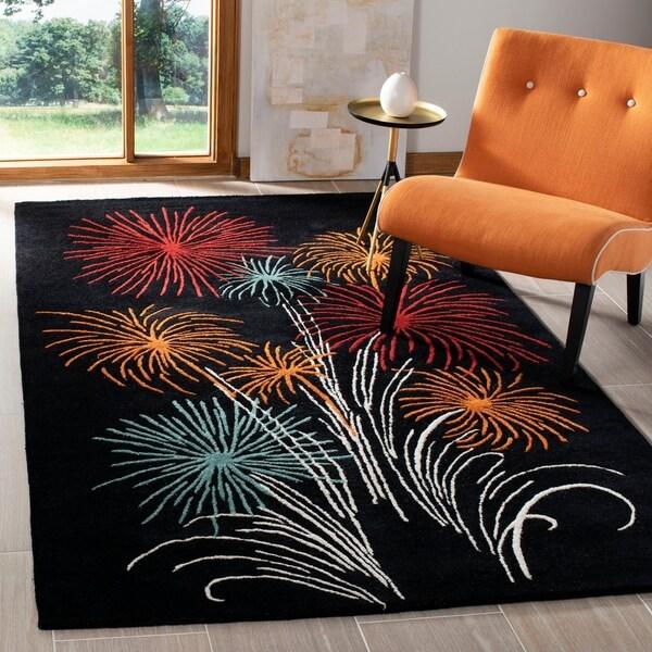 Safavieh Handmade New Zealand Wool Jubilee Black Rug - 7'6 x 9'6
