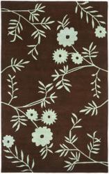 Safavieh Handmade New Zealand Wool Spring Brown/ Teal Rug (5'x 8')
