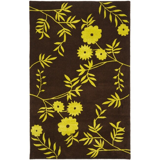 Safavieh Handmade New Zealand Wool Spring Brown/ Green Rug - 7'6 x 9'6