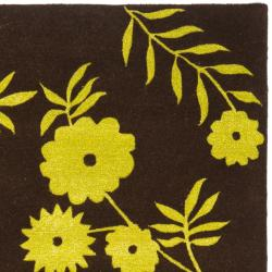 Safavieh Handmade New Zealand Wool Spring Brown/ Green Rug (7'6 x 9'6)