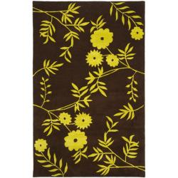 Safavieh Handmade New Zealand Wool Spring Brown/ Green Rug - 7'6 x 9'6 - Thumbnail 0