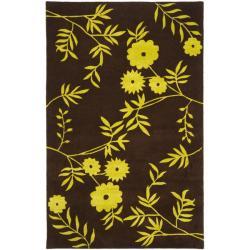 Safavieh Handmade New Zealand Wool Spring Brown/ Green Rug (3'6 x 5'6')