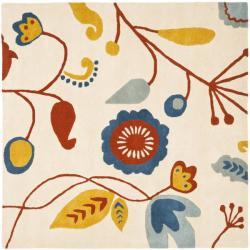 Safavieh Handmade New Zealand Wool Bliss Beige Rug (6' Square)