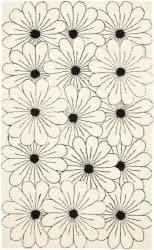 Safavieh Handmade New Zealand Wool Daisies Ivory Rug (5'x 8') - 5' x 8'