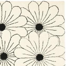 Safavieh Handmade New Zealand Wool Daisies Ivory Rug (3'6 x 5'6')