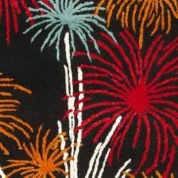 Safavieh Handmade New Zealand Wool Jubilee Black Rug (3'6 x 5'6') - Thumbnail 2
