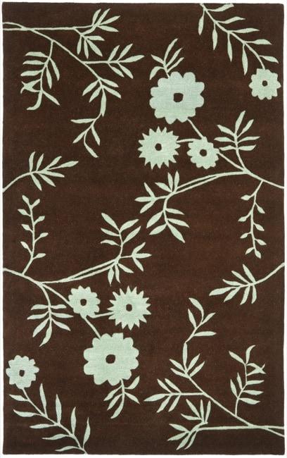 Safavieh Handmade New Zealand Wool Spring Brown/ Teal Rug (7'6 x 9'6)