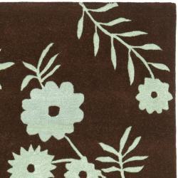 Safavieh Handmade New Zealand Wool Spring Brown/ Teal Rug (7'6 x 9'6) - Thumbnail 1