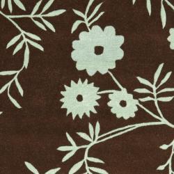 Safavieh Handmade New Zealand Wool Spring Brown/ Teal Rug (7'6 x 9'6) - Thumbnail 2