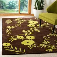 Safavieh Handmade New Zealand Wool Spring Brown/ Green Rug - 5' x 8'