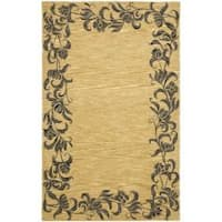 Safavieh Handmade New Zealand Wool Floral Border Gold Rug - 7'6 x 9'6