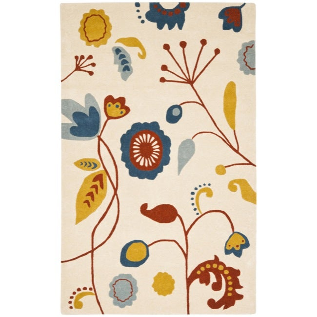 Safavieh Handmade New Zealand Wool Bliss Beige Rug - 7'6 x 9'6