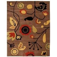 "Safavieh Handmade New Zealand Wool Bliss Brown Rug - 7'-6"" x 9'-6"""