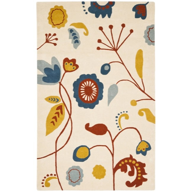 Safavieh Handmade New Zealand Wool Bliss Beige Rug - 3'6 x 5'6