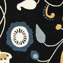 Safavieh Handmade New Zealand Wool Bliss Black Rug (5'x 8') - Thumbnail 2