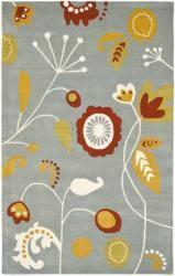 Safavieh Handmade New Zealand Wool Bliss Light Blue Rug - 7'6 x 9'6