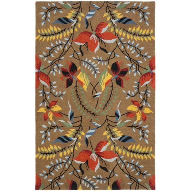 Safavieh Handmade New Zealand Wool Mirage Brown Rug - 7'6 x 9'6