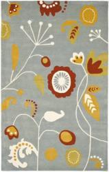 Safavieh Handmade New Zealand Wool Bliss Light Blue Rug (5'x 8')