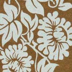 Safavieh Handmade New Zealand Wool Bliss Light Brown Rug (7'6 x 9'6) - Thumbnail 2