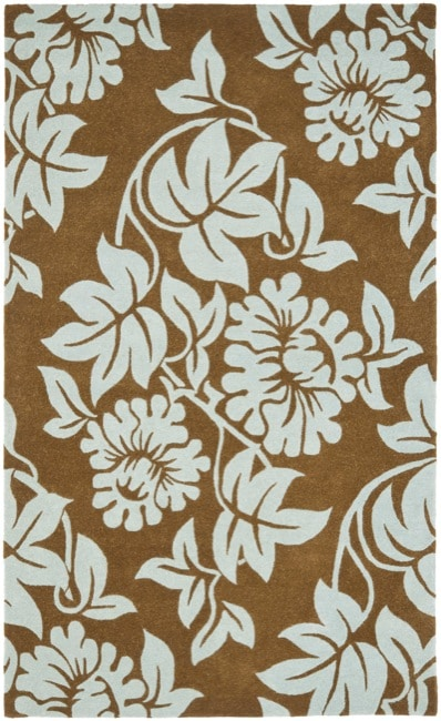 Safavieh Handmade New Zealand Wool Bliss Light Brown Rug (3'6 x 5'6')
