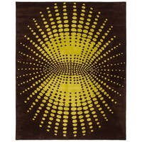 "Safavieh Handmade New Zealand Wool Infinity Brown Rug - 7'-6"" x 9'-6"""