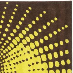 Safavieh Handmade New Zealand Wool Infinity Brown Rug (6' Square)