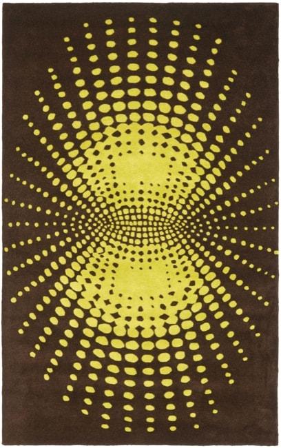 Safavieh Handmade New Zealand Wool Infinity Brown Rug (3'6 x 5'6')