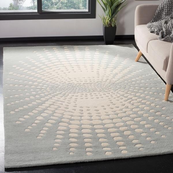 "Safavieh Handmade New Zealand Wool Infinity Blue Rug - 3'-6"" x 5'-6"""