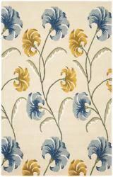 Safavieh Handmade New Zealand Wool Botanical Beige Rug - 3'6 x 5'6